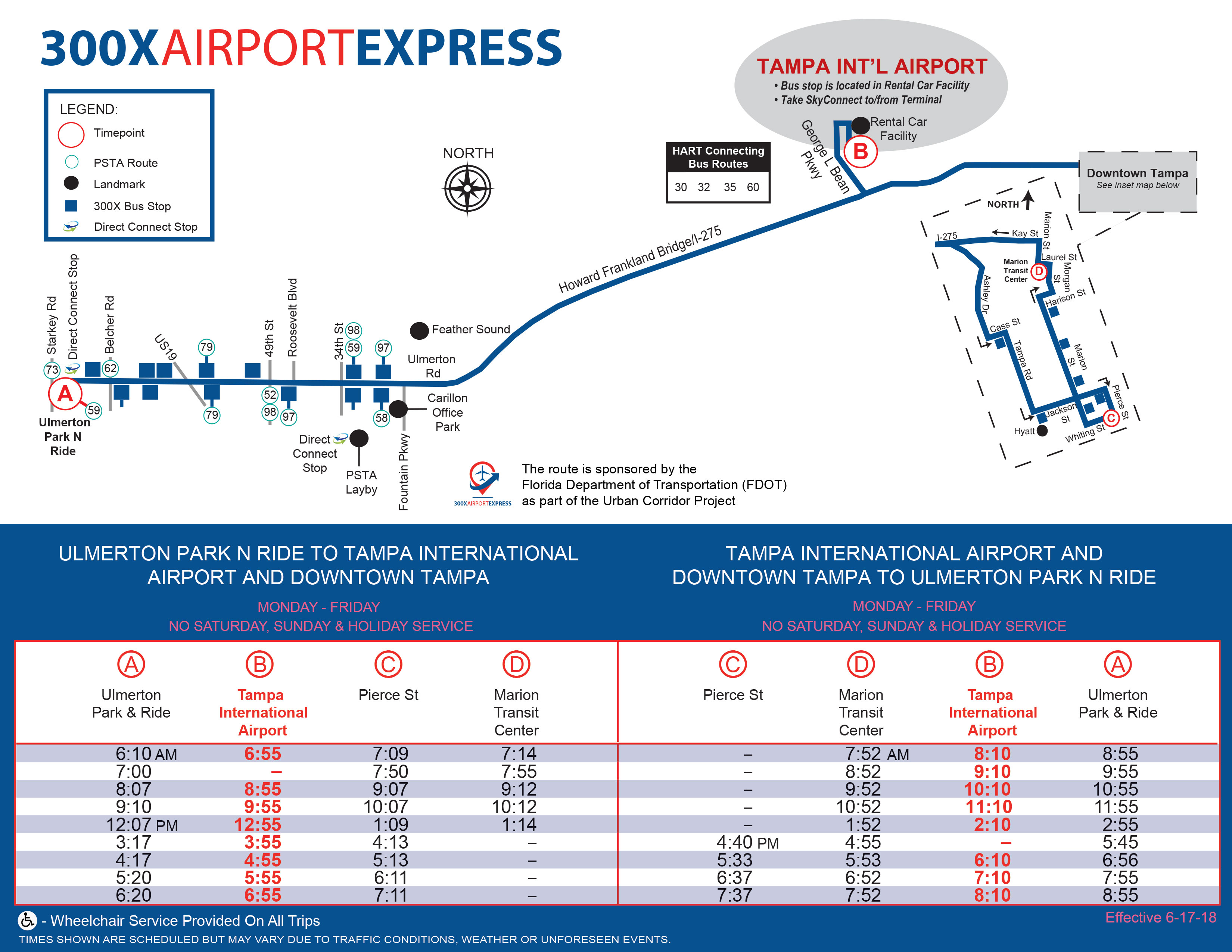 300X Airport Express Schedule