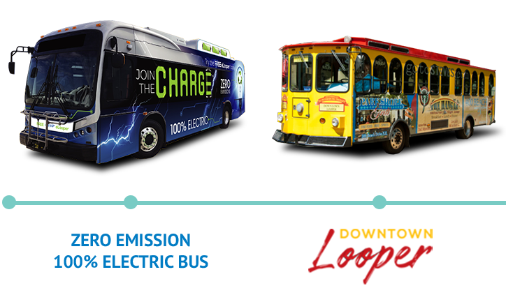 Zero Emission 100% Electric Bus | Downtown Looper