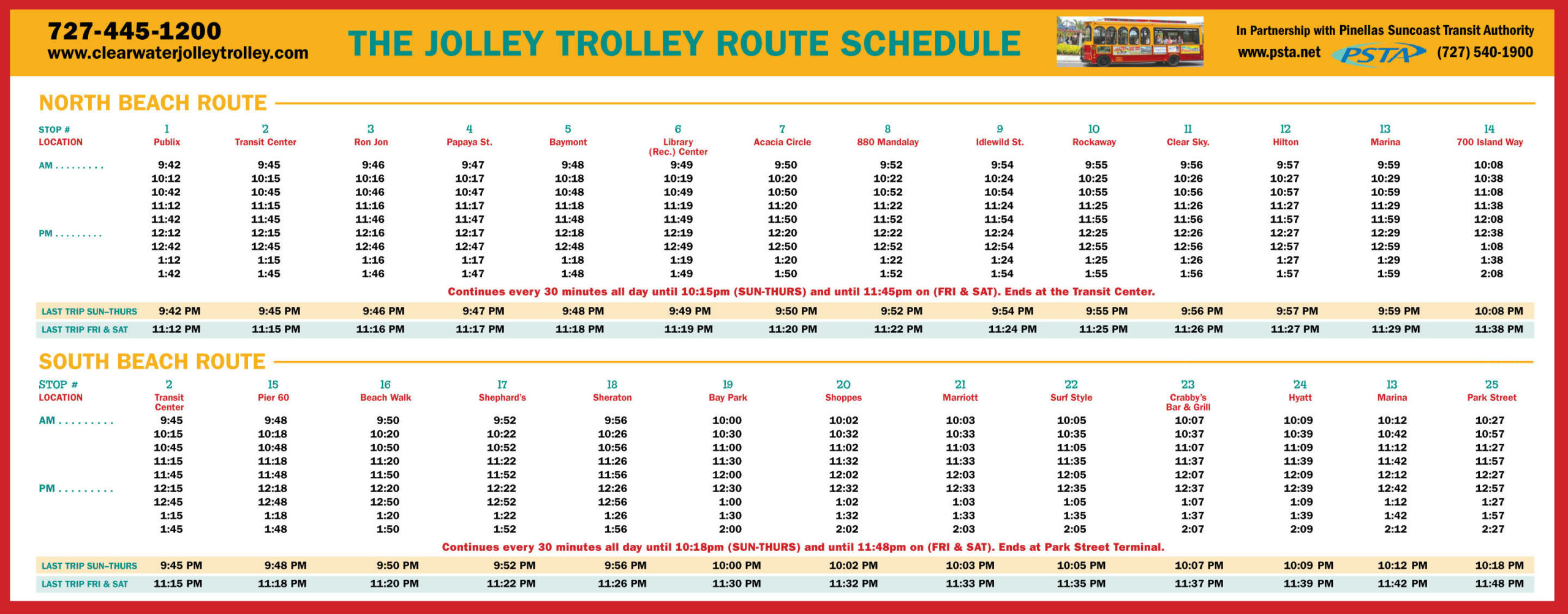 Schedules/Map | PSTA
